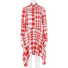 Stella McCartney Red White Plaid Trapeze Hem Shirt Dress IT38 UK6
