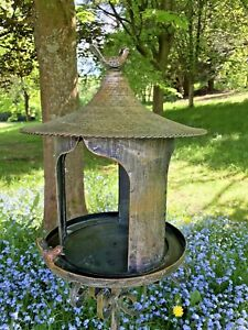 Bird Table Stand Stake Heavy Feeder Garden Lawn Ornament Metal Gift Present