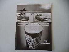 advertising Pubblicità 1973 OLIO AGIP e INNOCENTI MINI 1000