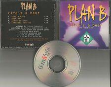 PLAN B Life's a Beat w/ EDIT & ROCK MIX & EXTENDED 1993 PROMO Radio DJ CD single
