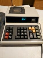 Royal 242PD Calculator Adding Machine Electronic Model 242PD Working w Cover