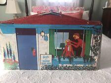 Rare Vintage 1965 Barbie & Skipper Vinyl Deluxe House Case