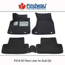Black all Weather 3D Custom Car Floor Mats /Floor Liners for 2009-2017  Audi Q5