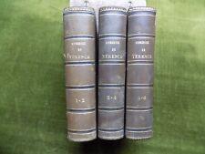 COMEDIES DE TERENCE Trad. Lemonnier 1832 3 vol. LATIN ROME