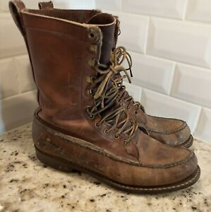 Vintage Gokey Leather Hunting Field Moc Toe Boots Gro Cord Supreme aprox Size 10