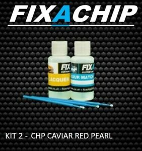 LAND ROVER CAR TOUCH UP PAINT - CODE CHP - CAVIAR  RED PEARL (KIT2)