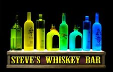 2'Long Led Whiskey Lighted Shot Glass Display / Remote Control Personalized Sign