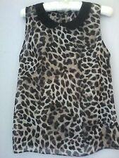 womens top/blouse by Redherring size 12 sheer animal print