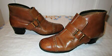 Vintage 60'S 70'S Mod Hipster Buckle Ankle Boots,By Sugar N' Spice, Womens 6.5