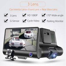 4'' HD 1080P Dual Lens Car DVR Dash Cam G-sensor Video Recorder+ Rearview Camera