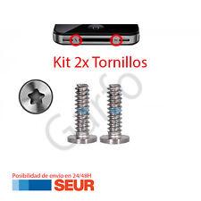 Kit Juego 2x Tornillos Exteriores Pentalobe para Iphone 4 4G / 4S 4GS Gris Plata
