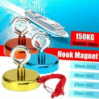 Recovery Magnet Hook Strong Sea Fishing Diving Treasure Hunting Flying Rings