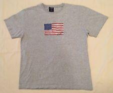 Vtg 90s Polo Sport Ralph Lauren Signature Big American Flag T-Shirt Size Medium