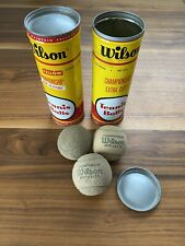 Vintage Wilson Tennis Balls One Open Canister and One Never Opened