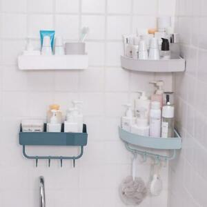 Triangular Shower Caddy Shelf Bathroom Corner Bath Rack Organizer Storage Z2T7