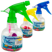 Water Bombs 3 x 50 Piece Incl. Spray Bottle For Filling