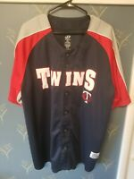 Minnesota Twins Button-Up Jersey, MLB Dynasty Series, Adult Size 2XL