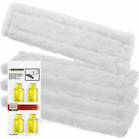 4 x KARCHER WV60 Window Vac Vacuum Cloths Covers Glass Pads + Cleaning Capsules