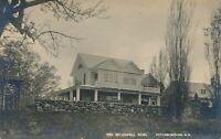 PETERBOROUGH NH – The McDowell Home Real Photo Postcard rppc