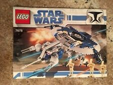 Lego Star Wars The Clone Wars Droid Gunship (7678) - 100% Complete Set