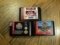 Lot of Sega Genesis Game ESPN Baseball  World Series Baseball  NFL 95 Cartridges