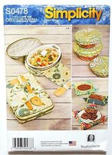Simplicity 1236 / 0478 Sewing Pattern Casserole Carrier Bowl Cover Fabric Basket