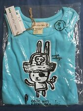 Boys Size 6-7  Sky Blue Pirate Three Little Trees Designer Tank Top New BNWT