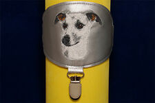 Whippet arm band ring number holder with clip. For dog shows.