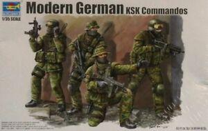 Trumpeter 1:35 Modern German KSK Commandos Plastic Figure Kit #00422U