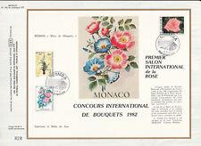 c feuillet CEF Monaco  concours de bouquets et salon de la rose    1981