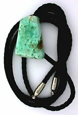 GREEN BLUE NATURAL TRIANGLE  TURQUOISE GEM GEMSTONE BOLO BOLA TIE epbt15