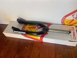 S&M RETRO VINTAGE 2nd GEN THREADLESS 1 /8 FORK BLACK PITCHFORK FORKS BMX BIKE