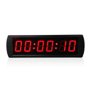 """3"""" Electronic Countdown Clock Led Digital Wall Clock Big Timer With Stopwatch"""