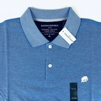Banana Republic Pique Cotton Polo Shirt Elephant Logo Blue New With Tags Sz XL