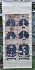 Antique Chinese Ancestor Portrait Painting on Silk Fabric Scroll, 19th c