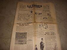 CANARD ENCHAINE 1977 10.09.1958 Jules RENARD Jean RIGAUX Paul LEAUTAUD BOISSARD