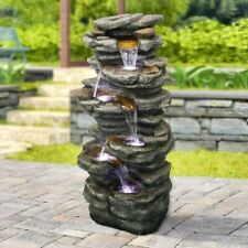 40 inch Cascading Waterfall with LED Lights Soothing Tranquility for Home Garden