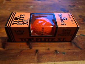 NEW SLEEVE 3 BALLS SPALDING TOP FLITE XL ORANGE GOLF BALLS NEW OLD STOCK