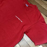 Vintage 90's Porsche Single Stitch All Over Double Side Red T-Shirt Men's Large