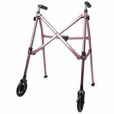Space Saver Lightweight Folding Travel Walker 6 wheels Supprts 400 lbs