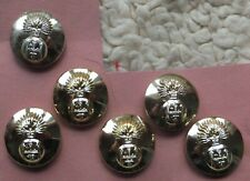 5 large Royal Highland Fusilier Buttons