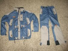 BOYS BLUE & GRAY SPYDER LOCALS SKI SUIT sz 10 / 12 youth pants & jacket MEDIUM