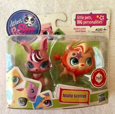 New Littlest Pet Shop Totally Talented Orange Lion 2690 & Pink Bunny 2691