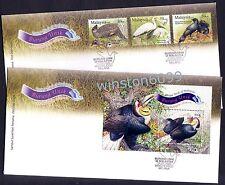 2009 Malaysia Unique Birds 3v Stamps + Mini-Sheet on 2 FDC (Melaka Cancellation)