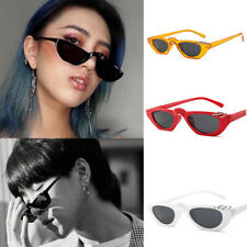Women Cat Eye Oval Sunglasses Retro Small Frame Vintage Shades UV400 Sun Glasses