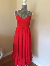 New J Crew Tall Drapery Spaghetti-strap Dress 6T Bright Cerise Red G4682 $148