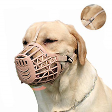 Basket Cage Muzzle for Small Medium Large Dogs Stop Barking Biting and Chewing