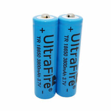 2X 3.7V 18650 Batteries 3800mah Li-ion Rechargeable Battery for Flashlight Torch