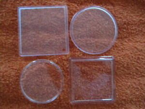 Blank Acrylic Coasters - Choose Round or Square, 80 x 80mm or 90 x 90mm & Amount