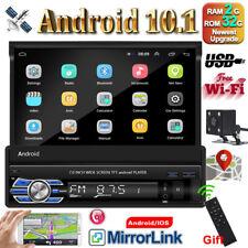 "7"" 1 DIN Autoradio Android 10 Radio de Coche Touch Bluetooth GPS WiFi + cámara"